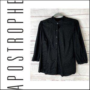 *3/$18*Apostrophe 3/4 Sleeve Button Up Shirt